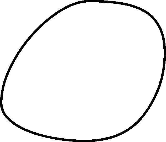 black outline pebble